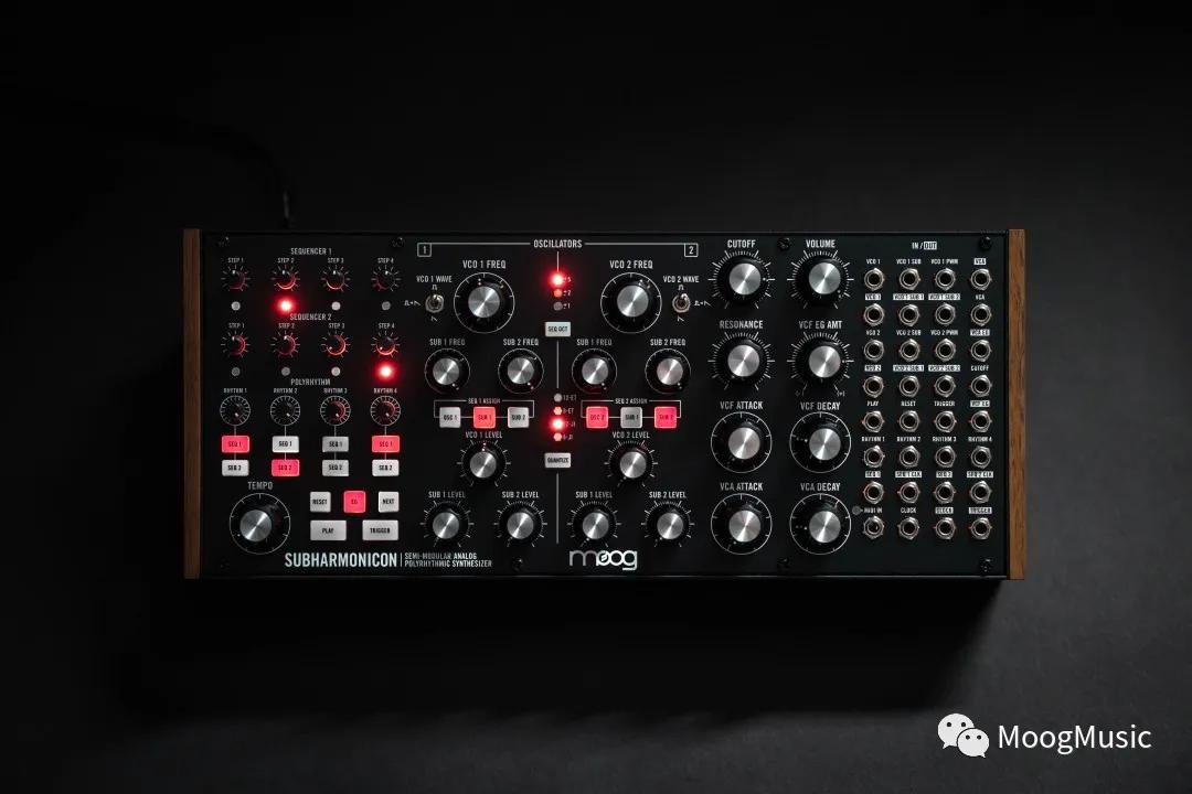 Moog半模块合成器系列新成员 - Subharmonicon复合节奏模拟合成器-01.jpg